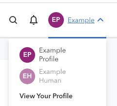 The dropdown menu shown after clicking on your profile name in your 23andMe account.