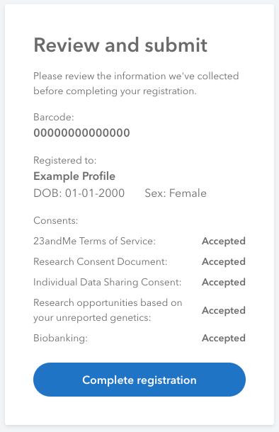 Registering Your DNA Test Kit – 23andMe Customer Care