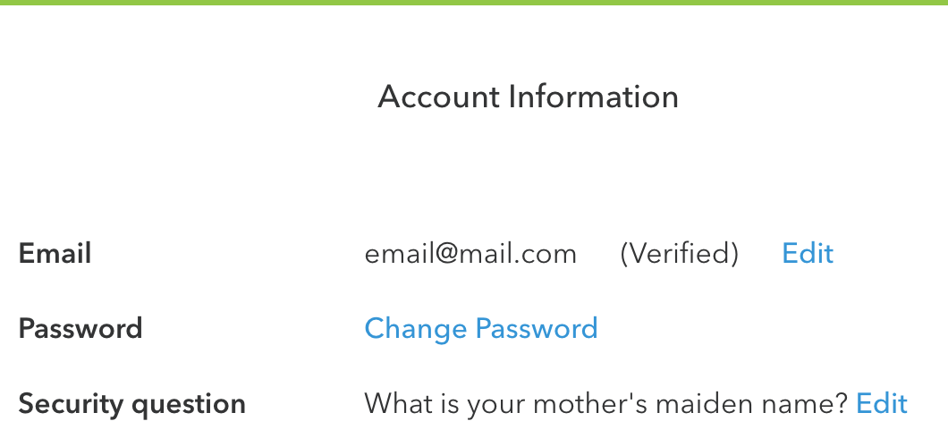 how to change email security question